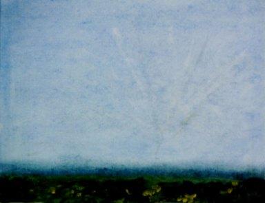 Grenzenlose Weite, 2001, Öl, mit Passepartout und Rahmen, 50 x 70 cm