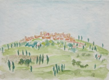 Sinalunga, 2000 mit Passepartout und Rahmen 40 x 50 cm