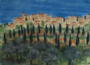 Scarlino, 2012, mit Passepartout und Rahmen, 50 x 70 cm