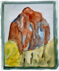 Mythen I, 1995, mit Passepartout und Rahmen, 30 x 40 cm