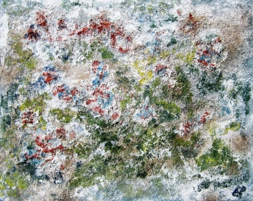 Obstbaum im Frühling. 2015 Powetex Easy3D Leinwand 40 x 50 cm