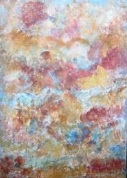 Marmor II, 2016 Powertex mit Farppigementen, Leinwand 50 x 70 cm