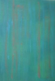 Schilfgrün, 2018 Acryl auf Karton,, 18 x 24 cm
