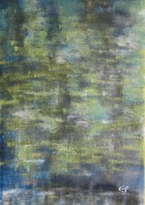 Wald im Frühlingskleid, 40 x 50 cm Teer Acryl