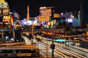 Evening traffic in Las Vegas