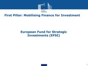 European Fund for Strategic Investments (debate)