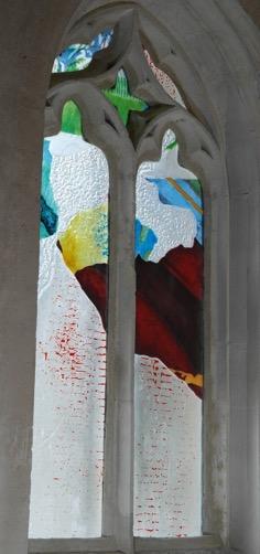 « Psaume 19 »,Création 2018, église Notre Dame de Chamblac (Eure) (verrier : Eric Boucher)