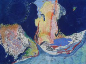 Naufrageurs des mers. Pastel et technique mixte. 190x120 (c) 2011