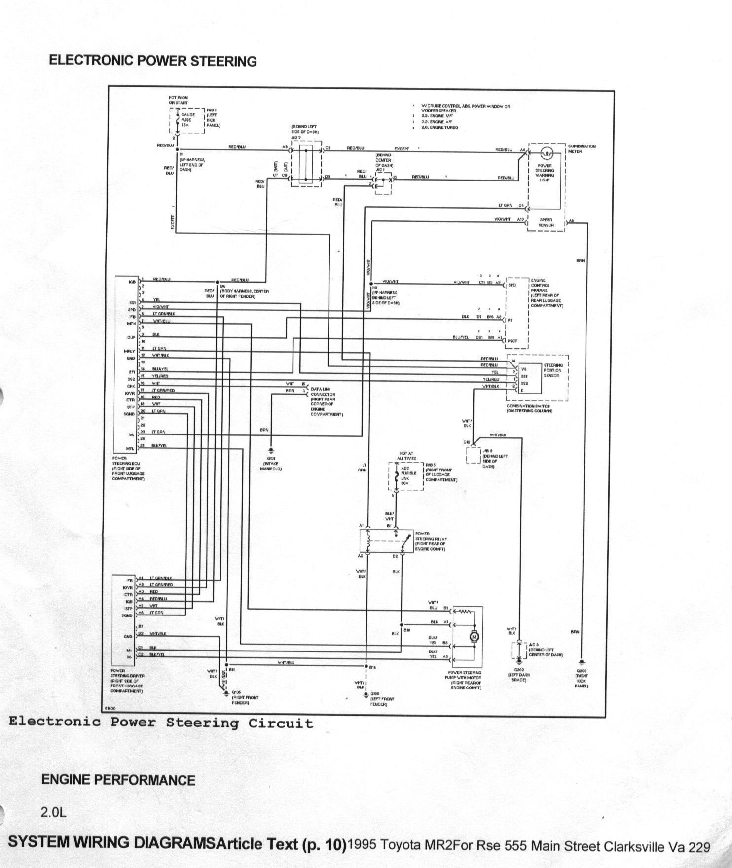 Toyota Mr2 Wiring Auto Electrical Diagram Harness 1991