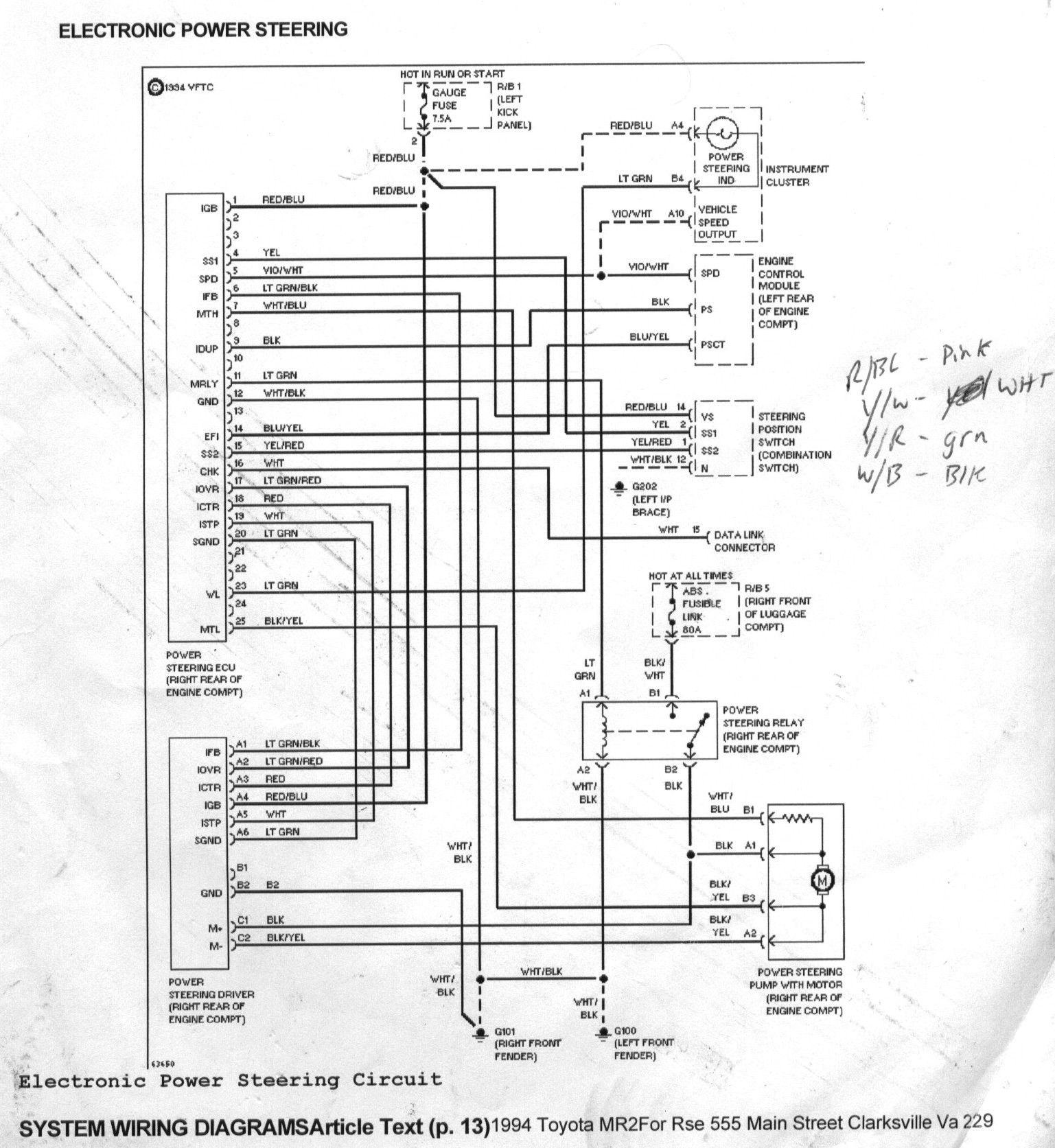 Wiring Diagrams On Toyota Cressida Electrical System