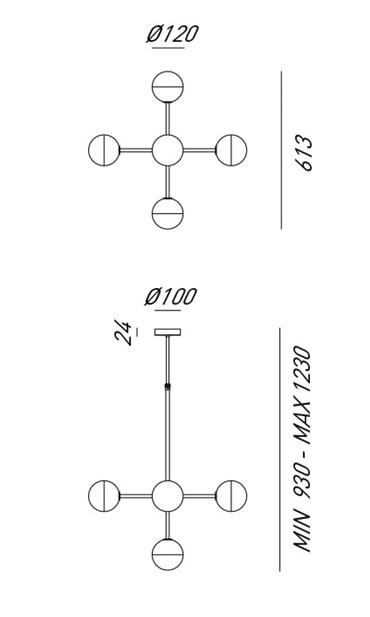 Lustra design minimalist realizat manual din alama