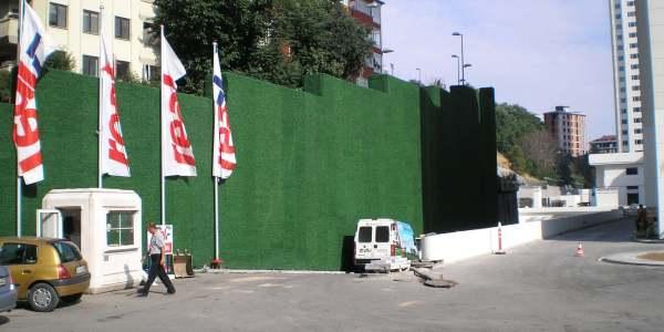 grass fence install