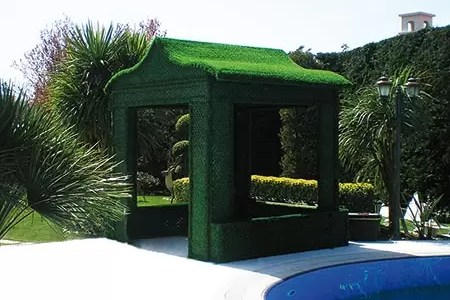 grass fence wall covering using areas