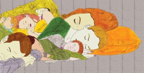 murale - fasi del sonno