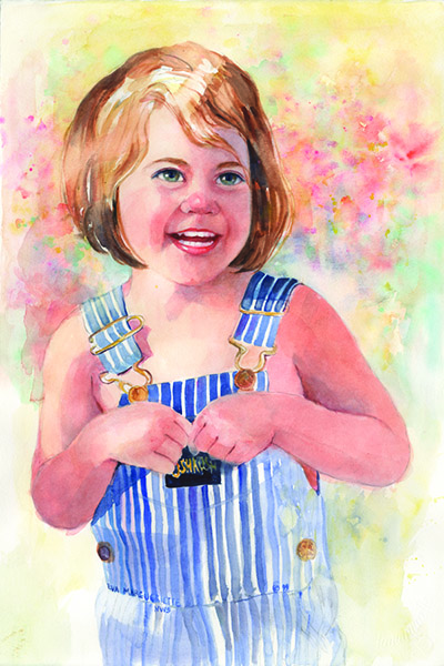 Child Portrait by Eva Margueriette