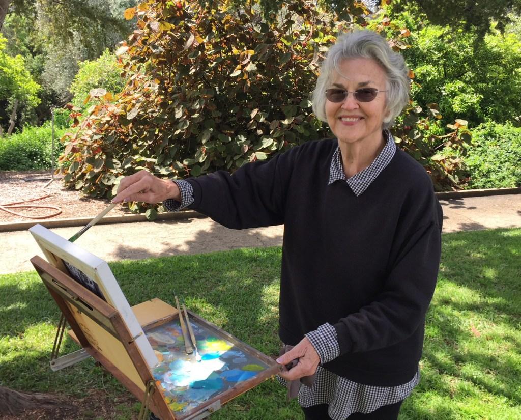 Eva-Margueriette-painting-in-Huntington-Gardens-2018