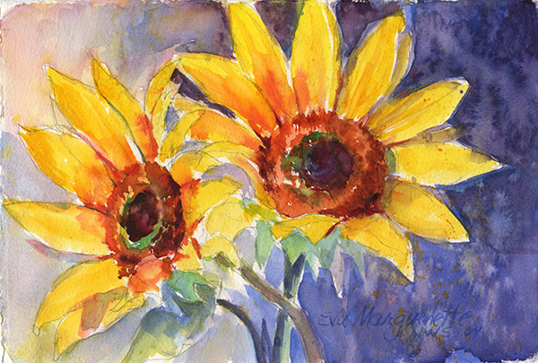 two-sunflowers by Eva Margueriette