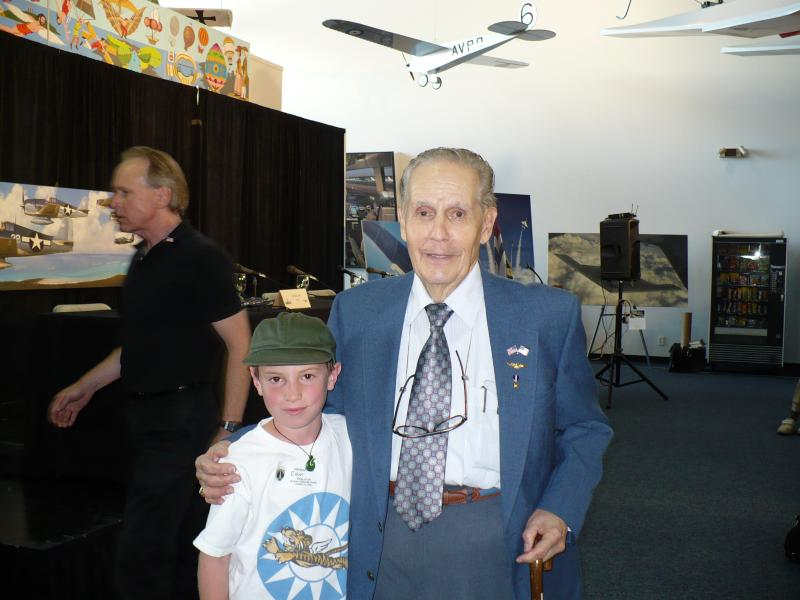 Captain Robert Duncan, USN (Retired) with future naval aviator in 2007.