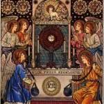 Billete Celador    -Un mensaje para ti Guardia  de  Honor-  Cristo presente en la Eucaristía.