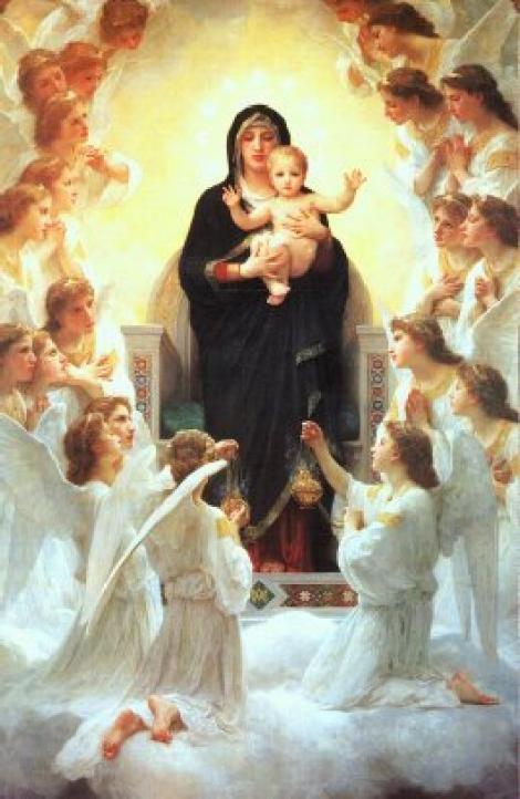 virgen-con-angeles-y-niño