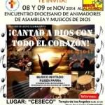Encuentro diocesano de animadores de asamblea y músicos de Dios 2014.