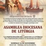 Invitación, asamblea diocesana de liturgia. Arquidiócesis de León.