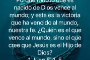2a lect de la 1a carta del Apóstol San Juan 5,1-6. Domingo 11 de Abril de 2021. LA DIVINA MISERICORDIA.