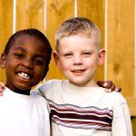 happy diverse kids