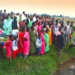 A baptism service among the Selale Oromo people in Ethiopia