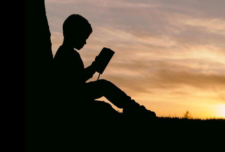 boy reading the Bible