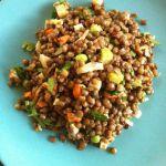 Lentil Salad, a template for whole grain salads