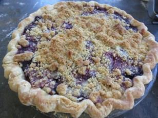 pie-a-day, blackberry pie, quark