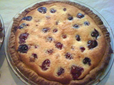 pie-a-day, kcrw, cherries, clafoutis