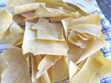 "making ""malfade"" or badly made pasta"
