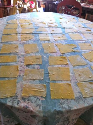 pasta as it dries