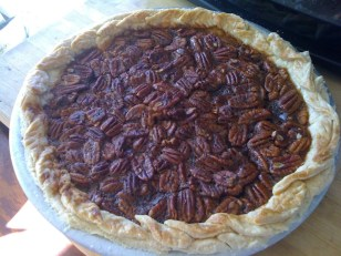 chocolate pecan pie, kcrw, pie-a-day, pie