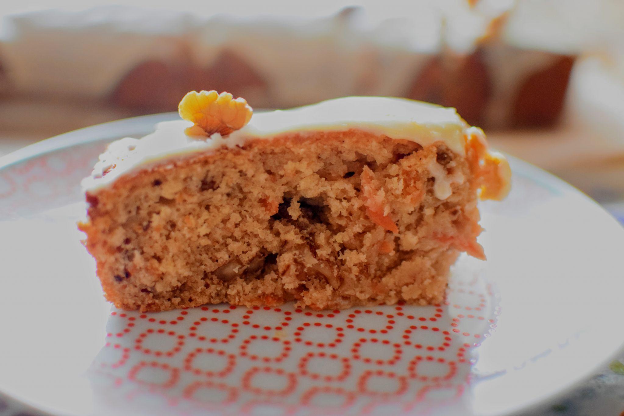 Vegan Carrot Cake, Food:  Vegan Carrot Cake with Orange Cream Frosting Recipe
