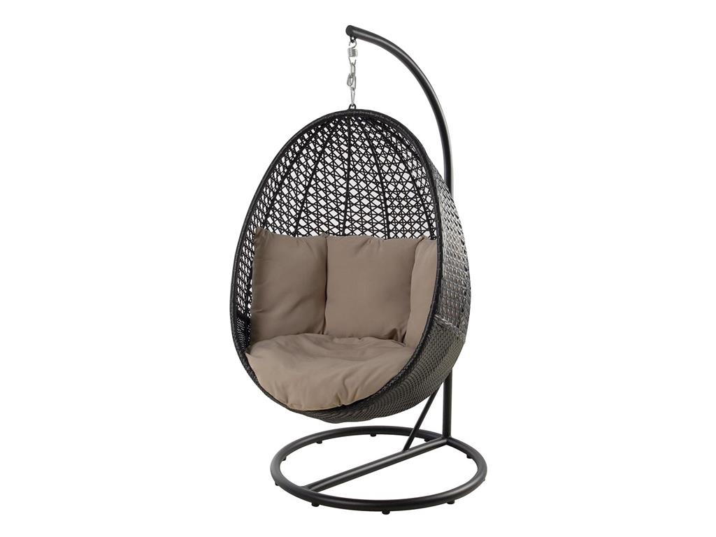 hanging chair bolt best travel high booster seat outdoor peter pod o d stand dark choc wicker black rrp 399 display missing chain bolts incomplete picture for