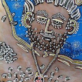 Males - Detail of Self Portrait by E.G.Silberman, 2012