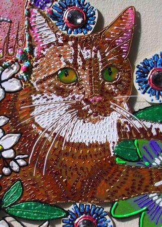 Pet Portrait - Detail of Jasmine's Garden by E.G.Silberman, 2008