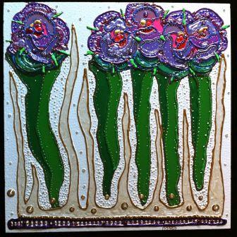 Squares - Five Thomas Roses by E.G.Silberman, 2010