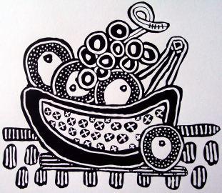 B&W - Fruit Bowl by E.G.Silberman, 2007