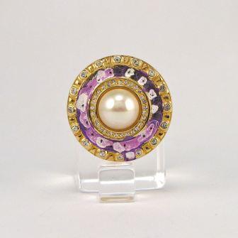 Charms - Purple Circle by E.G.Silberman, mid 90's