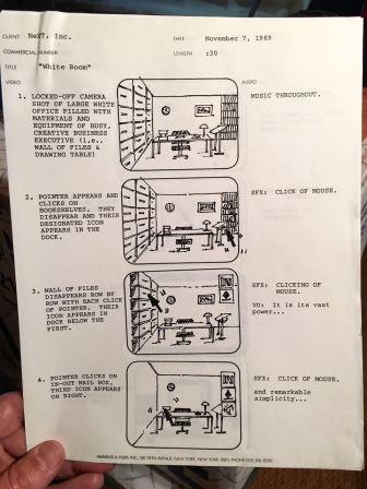 NeXT Computer TV Ad Script 1989 - 1 - Evan Silberman, NYC