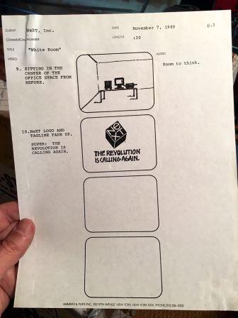 NeXT Computer TV Ad Script 1989 - 3 - Evan Silberman, NYC
