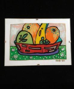 Fruit in Red Bowl - Evan Silberman NYC