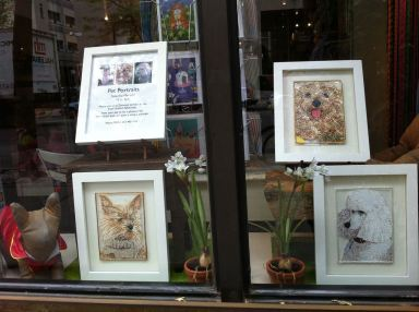 Pet Portraits - West Village Store Window - Evan Silberman NYC