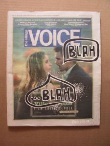 Village Voice Cover - Evan Silberman NYC - Blah ...Blah