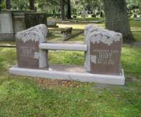 Granite Memorial Benches - Evans Monument Company