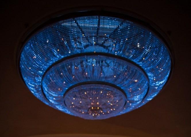 Glass Chandelier Blue Lighting Philadelphia Weddings Ritz Carlton Hotel C